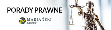 Banner porady prawne pod panelem logowania
